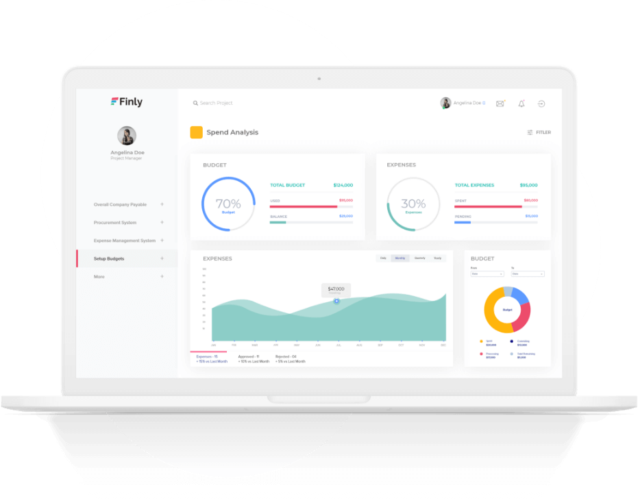 Accounts Payable Budgets And Insights Screen